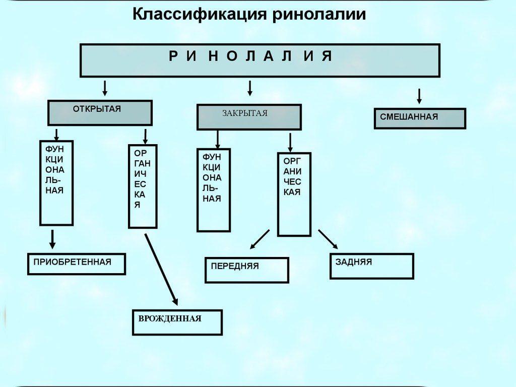 Особенности ринолалии